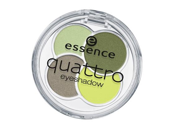Az Essence Quattro formációjában kedvedre kombinálhatod a színeket, hiszen úgy párosították őket össze, hogy passzoljanak egymáshoz. A zöld idén különösen kedvelt lesz.