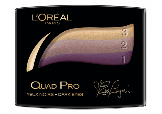 A L'Oréal legújabb terméke a Quad Pro, ami a korábbi Trio Pro továbbfejlesztett változata. Segítségével úgy sminkelhetsz, akár egy profi: a bézs és a lila árnyalatai különösen illenek egymáshoz.