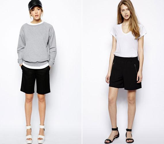 Több helyen is feltűntek a hosszabb, férfias szabású rövidnadrágok. Ezek még magassarkúval sem túl nőiesek.