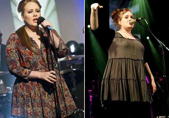 Adele kedveli a földszíneket, amik jól is állnak neki. A klasszikus ápol és eltakar ruhákat részesíti előnyben.