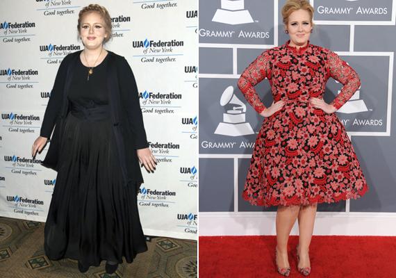 Adele mindössze 26 éves, ez a stílusából nem található ki azonnal. Valószínűleg a komolyságát szeretné hangsúlyozni az idősebb nőknek való ruhákkal.
