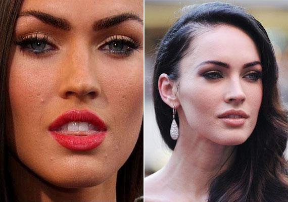 Megan Fox remekül példázza, hogy a makulátlanság sokszor a rajongók és a vásárlók becsapása, és Photoshoppal érhető el. Armani-reklámjaiban természetesen egy pattanás sem látszik.