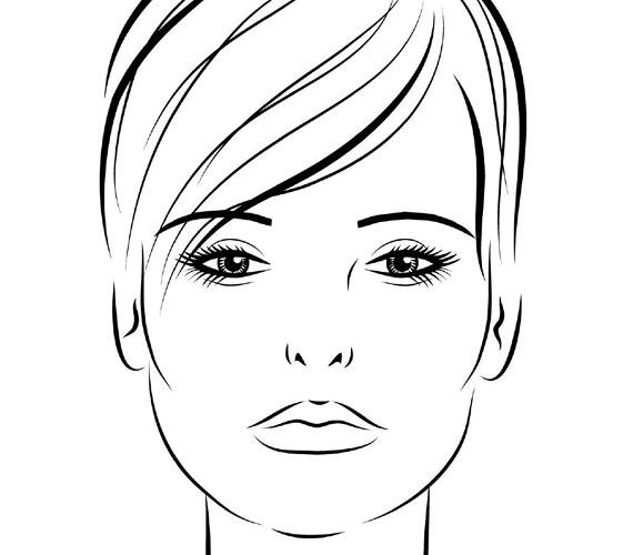 Hosszúkás archoz egyenes, nem túl ívelt szemöldök való, ami egy picit megrövidíti optikailag a fejet.