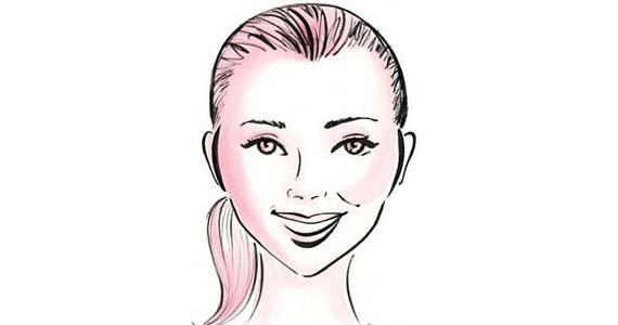 Gyémánt arcforma. Az áll határozott, de nem annyira, mint a hosszúkás arcformánál, a pofacsontok kiugróak. Eva Longoria arca is ilyen formájú.