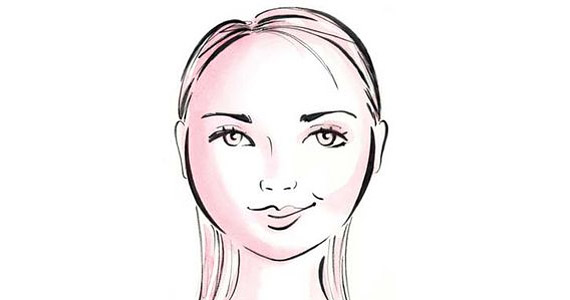 Kerek arcforma, a homlok és az áll is széles, de a vonalaik nem határozottak. Kirsten Dunst színésznőnek is kerek arca van.