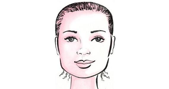 Négyszögletes arc, a homlok és az állkapocs külső széle egy vonalban van, utóbbi elég határozott. Angelina Jolie is ebbe a típusba tartozik.