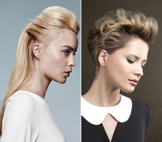 A fejtetőn feltupírozott, oldalt elsimított frizura szintén előnyös a számodra, legyen a hajad hosszú vagy rövid.