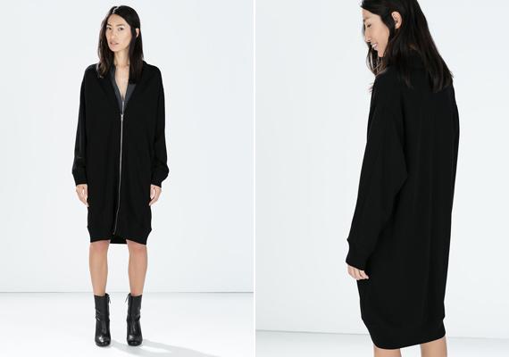 A egysoros, illetve a középen cipzáras fazonok megnyújtják az alakot, viselőjüket magasabbnak és egyúttal karcsúbbnak mutatva. A kabátot a Zarában lehet megvásárolni, 14 995 forintért.