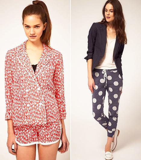 Járj pizsamában!  A nyolcvanas évekkel együtt visszahullámzik a szabad divatfelfogás, mely utcai viseletté avanzsálja a pizsamákat. Persze inkább pizsamaszerű öltözékekről van szó, és nem arról, hogy hálóruhában kellene flangálnod. Ha egyáltalán hajlandó lesz valaki követni ezt a trendet, nem illik majd megütközni a blézerrel kombinált pizsinacin sem.