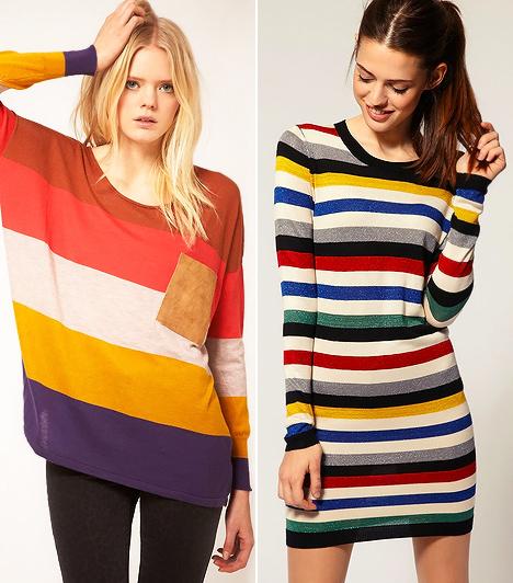 Colorful trend                         Idén globálisan, az egész divatot a színek uralják. A colorful trendnek több ágazata van, melyeket bármilyen stílussal összehozhatsz. Az egyik a tavalyról jól ismert colour blocking, ami idén csíkos verzióban jelenik meg, egyfajta szivárványos hangulatban.