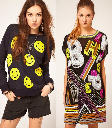 Giccsretro  A rave nation múltidéző, bazári kavalkádjában ismét pólókra és pulóverekre kerül a rendíthetetlenül derűs smiley-figura, de a betűkre esztétikai formaként tekintő pop art poszterstílus is megjelenik az öltözködésben.
