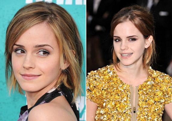 Strandbarna, picit lenőtt haj Emma Watsonon, aki ma már nem így néz ki, de nyár végén nagyon szexisek a napszítta fürtök, akár természetesek, akár nem.