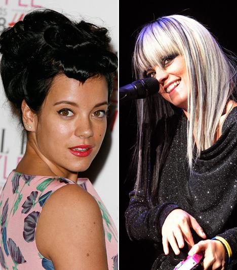 Lilly AllenA korábban botrányos életű, de manapság Chanel-modell angol énekesnő, Lilly Allen nemcsak szőke és barna volt, hanem rózsaszín hajjal is hódított.