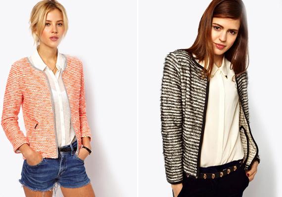 A Coco Chanel átltal divatba hozott tweed-, illetve gyapjúblézerek hűvösebb nyári estéken jöhetnek jól.
