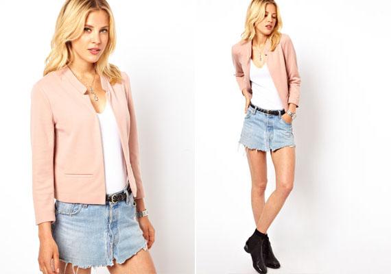 A rózsaszín, főleg az ilyen finom árnyalata, a legnőiesebb színek közé tartozik. Ha nyárra vásárolsz blézert, nagyon jól döntesz, ha ebben a színben veszed meg.