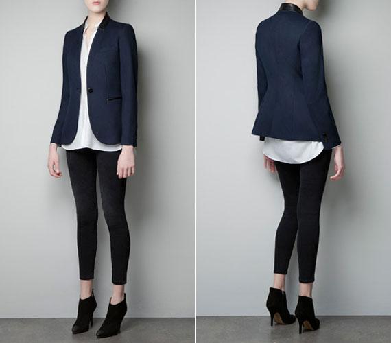 A Zara kék blézere 8995 forint.