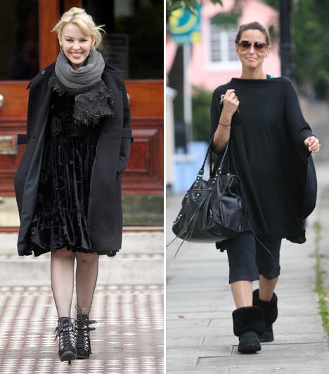 Kylie - bár pici - nagyon sikkes a bokacsizmában. A jobb oldalon szereplő hölgyről ez nem mondható el.Kapcsolódó cikk:14 öltözködési tipp, ha 10 centivel magasabbnak akarsz látszani »