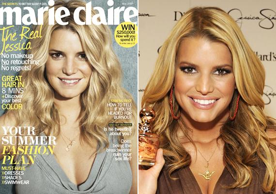 Jessica Simpson is beállt a sorba, hogy bebizonyítsa, smink nélkül is gyönyörű. Ő a Marie Claire magazinnak pózolt, megmutatva, nincs mit takargatnia.