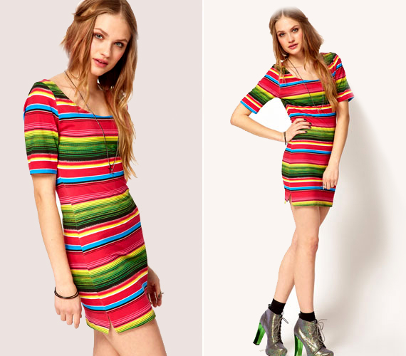 Ha merész vagy, persze csíkos ruhát is választhatsz, a sokszínűség vidám, életteli hatást kelt.