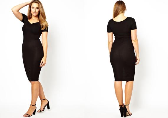 Egy nő szekrényéből sem hiányozhat egy kis fekete ruha. A képen látható  darab előnyösen emeli a82feba863