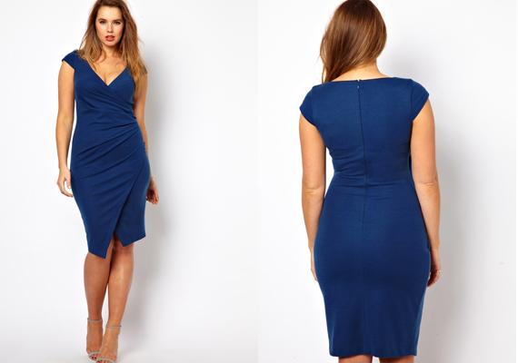 Nem kell azonban lemondani a szűk ruhákról sem. A képen látható kék ruha  előnye a 7010440a63