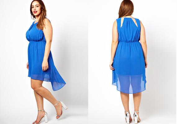 Az aszimmetrikus aljú ruhák is csinosak. Hosszítják a testet 13a46935b9