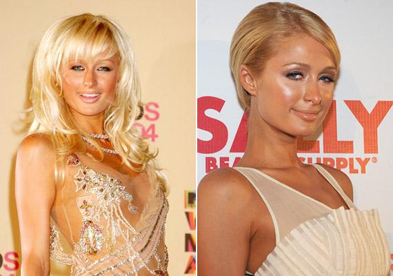 A természetes mosolyú Paris Hilton a többféle narancsárnyalatot részesíti előnyben. A mellkas barnára fújva, a felkar szinte fehér. A másik képen pedig úgy néz ki, mintha az orrát valami olyanba ütötte volna, amibe nem kellett volna.