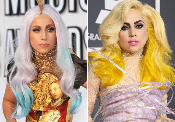 Lady Gaga sem megy a szomszédba, ha egy döbbenetes halköltemény megálmodásáról van szó. Sem a fehér-kék, sem a sárga haj nem való a vörös szőnyegre - meg úgy egyáltalán, sehova.