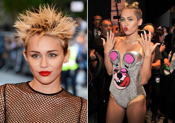 Az utóbbi időben Miley Cyrus botrányos külseje mellett senki nem megy el szó nélkül, mi sem tesszük: a tarajos sül fazon és a babakonty sem volt jó választás.