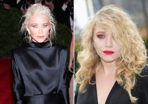 Az Olsen ikreknek különlegesen rossz stílusérzékük van, ami a frizurájukat illeti: mindketten előszeretettel választanak nagyon világos, szinte már fehér hajszínt, ami miatt úgy néznek ki, mint a saját öreganyjuk.