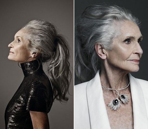 Az 1928-as születésű angol modell dolgozott a Niveának, az Olaynek, de a Dolce&Gabbana kampányaiban is szerepelt.