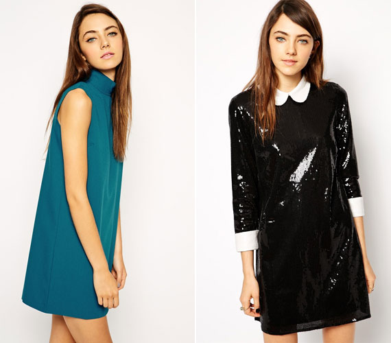 A hatvanas éveket idéző ingruhák különösen jól állnak az aprócska lányokon, még inkább hangsúlyozva a nőies törékenységet.