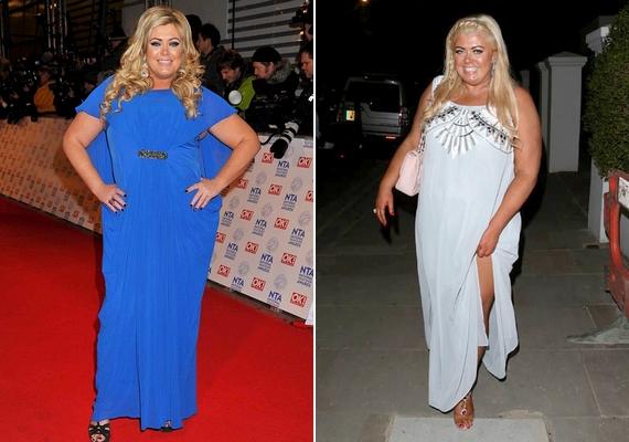 Gemma Collins sátorszerű ruhái jól mutatják, hogy nem csak a testhez álló öltözékek tudnak előnytelenek lenni a dundi alkaton.