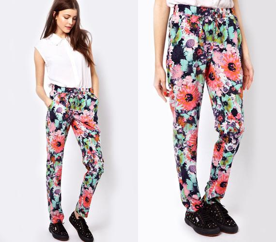 A virágmintás bomberdzsekik jól néznek ki, de ez nem mondható el a pizsamaszerű nadrágokról, melyek minden nőiességet nélkülöznek.