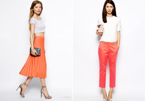 Narancsból a tompa tökszín és a korallos, meleg színvilág dominál, ettől lesz ez ennyire hívogatóan nőies viselet.
