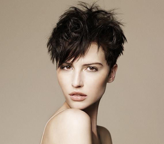 A haj előrefésülése nemcsak a szálak vékonyságáról vonja el a figyelmet, de hangsúlyozza szemeid szépségét is. Ha az oldalsó részeket rövidebbre vágatod, egyúttal az arcodat is keskenyítheted, és nagyon vagánnyá teheted a frizurádat.