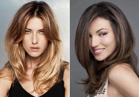 Az egyik legrafináltabb hajviselet a fokozatosan nyírt frizura, mert a rétegektől sokkal többnek tűnik a haj. Középen és oldalt elválasztva is működik.