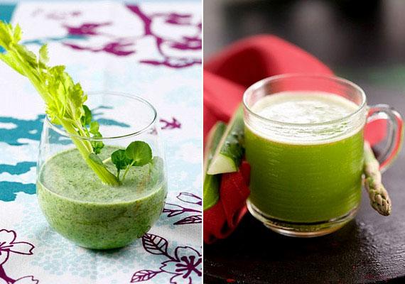 Egy klorofilban gazdag zöld turmix energiát ad, és a ragyogóvá teszi a bőrt. Itt találod a receptjét.