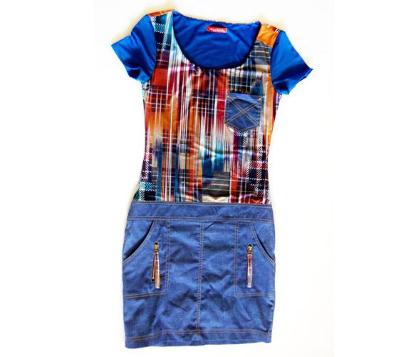 A farmer fiatalító hatását a színes felsőrész tovább fokozza ezen a ruhán, melyet 8990 forintért találsz az AsiaCenter kínálatában.