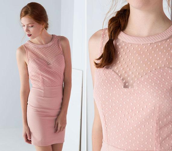 Világos rózsaszín csipkés ruha a Bershkától, amit nagyon jól lehet kombinálni az őszies bordóval, de egy lágy szürkével is szépen kiegészítik egymást. 8995 forintba kerül.