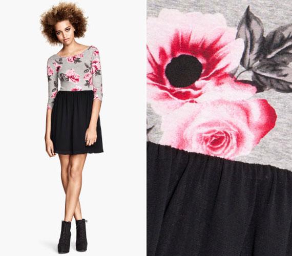 Ez a vidám rövid ruha a H&M-től 5990 forintba kerül, jól mutat bokacsizmával, de akár hosszabb fazonnal is.