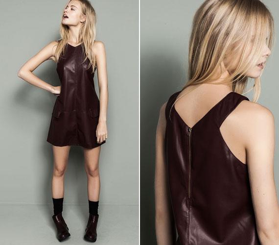 Bőr hatású ruha vagány lányoknak a Pull&Beartől 8995 forintért.