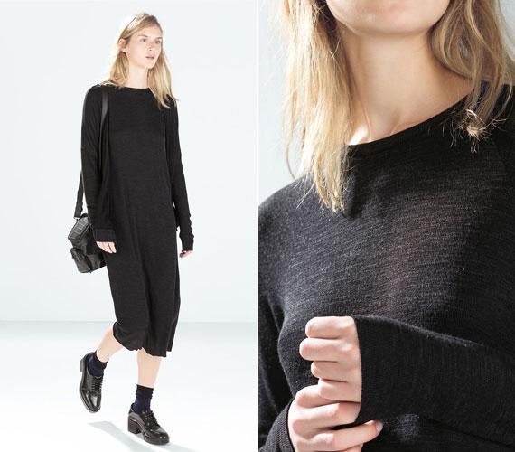 Elsőre nem biztos, hogy nőiesnek tűnik ez a zsákruha a Zara TRF részlegéről, de egy övvel és magassarkúval csodásan fog kinézni. 8995 forintba kerül.
