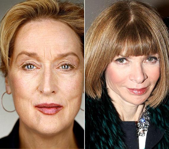 Meryl Streep kifejezetten ellene van a szépészeti beavatkozásoknak, a film nagyasszonya az öregedést az élet természetes folyamatának tartja. Anna Wintour vele szemben - mindketten 1949-ben születtek - mindent elkövet, hogy fiatalabbnak tűnjön a koránál. A divatvilág vezetőjeként ez valahol érthető.