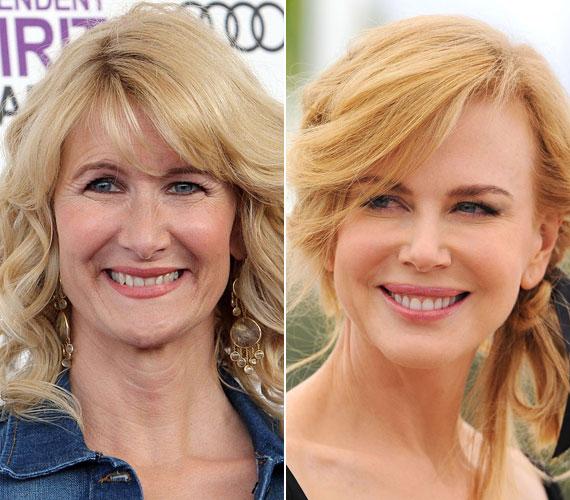 Laura Dern 47 éves, csodásan fest a ráncaival együtt. Nicole Kidman szintén 1967-ben született, de képtelen megöregedni, bár az utóbbi időben a hírek szerint már kevesebbet botoxoltat, mert a merev arcvonások már a karrierjét hátráltatták.