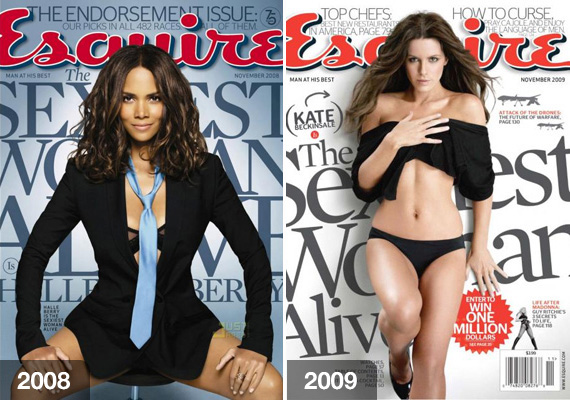 Halle Berry a 2002-es Halj meg máskor! című James Bond-filmben csábító bikiniben jelent meg a vásznon. 2008-ban az Esquire is a legszexibb nőnek találta.                         2009-ben Kate Beckinsale kapta meg az utóbbi elismerést. Nem ez volt az első ilyen esete azonban, 2000-ben ugyanis már a Maxim magazin is beválasztotta a száz legszexisebb nő közé.
