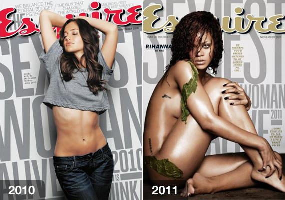 2010-ben Minka Kellyt kiáltották ki a legvonzóbbnak. Az amerikai színésznő hazánkban talán kevésbé ismert, eddig leginkább sorozatokban szerepelt.Rihanna kedveli a kihívó ruhákat, amelyekkel kihangsúlyozhatja a bájait. 2011-ben ki is érdemelte a magazin elismerését.