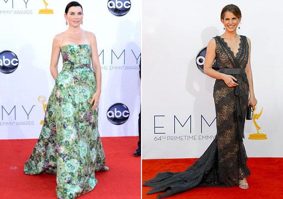 Julianna Margulies Giambattista Valli couture ruhát választott, Anna Chlumsky csupa csipke estélyijét Christian Siriano tervezte.