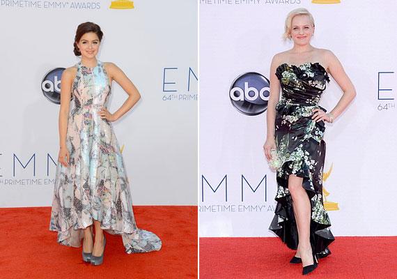 Ariel Winter Katherina Kidd állatmintás ruhájába bújt, Elisabeth Moss a Dolce & Gabbana nyomott mintás ruháját viselte.