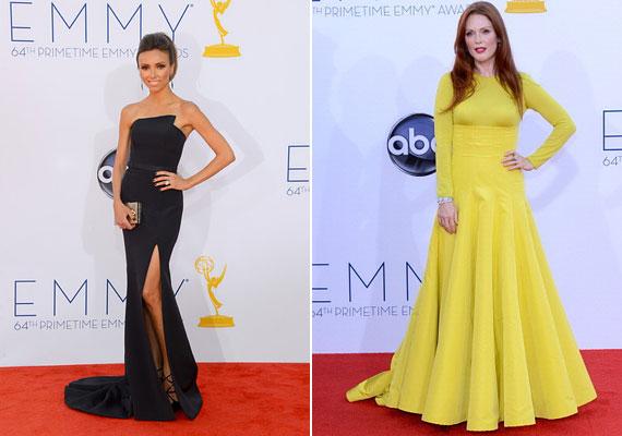 Romona Keveza ruhája megmutatta Giuliana Rancic vállait, de Julianne Moore Dior couture estélyije mindent eltakart.
